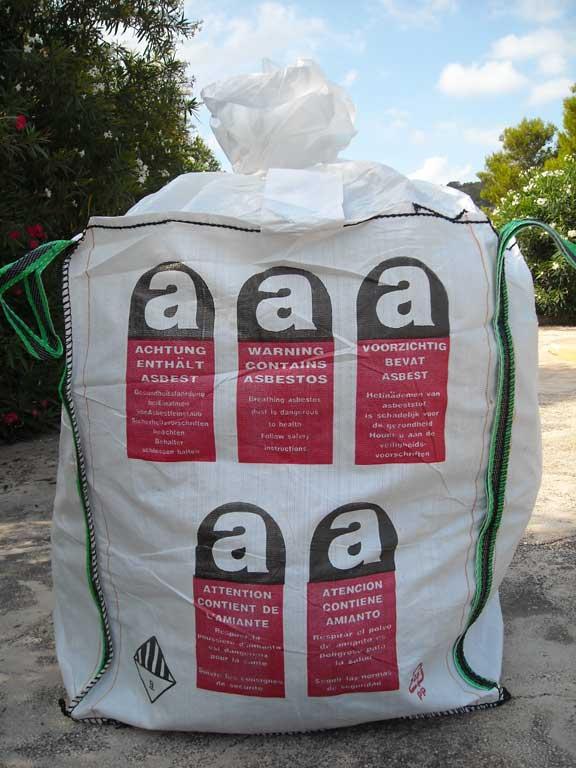 Verificación y transporte del amianto