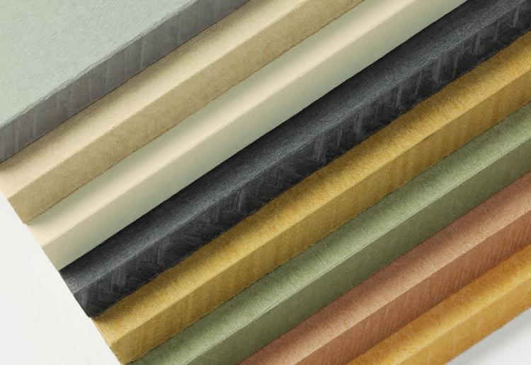 Muestra de fibrocemento en varios colores  utilizados en fachadas ventiladas