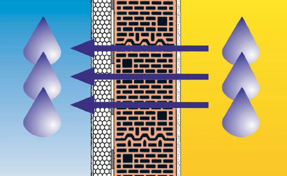 El sistema SATE proporciona una pared que transpira